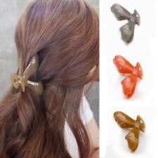 Women Crab Candy Color Barrette Hair Clip Acrylic Barrette Hair Claw Hair Clamp