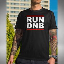 RUN DNB Mens T Shirt Jungle Drum & Bass Dance Music Lover Old Skool Raver