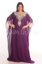 MODERN GEORGETTE KAFTAN JALABIYA JILBAB PARTY WEAR WOMEN CLOTHING EDH 4821