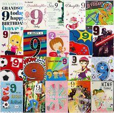 9th Cumpleaños Tarjetas Abierto/Hija/nieta-varios Diseños Disponibles