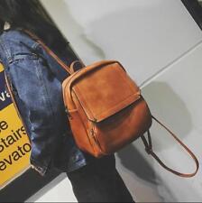 Fashion Retro PU Leather Small Backpack Collegiate Bookbags Travel Shoulder Bag@