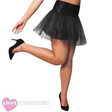 Negro Corto Para Net Tutú 1950S Fancy Dress Costume Accesorio anotó