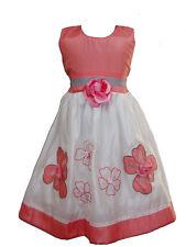 NEUF filles blanc et orange soirée d'été Concours Robe 12 mois à 3 ans