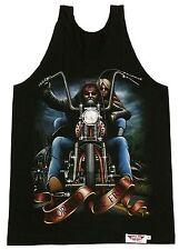 Camicia muscolare: Motociclista + Lady, taglia M, L, Moto Chopper, Rocker T-Shirt Tank Top