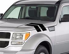 "NEW Truck Fender Hood Hash Bars vinyl RACING STRIPES 4"" Decal (Fits Dodge NITRO)"