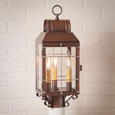Irvin's Tinware Martha's Post Lantern - Primitive Country Outdoor Lighting - New
