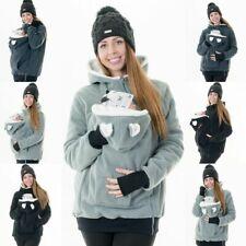 Gefütterte Tragejacke für Tragetuch Bauchtrage Tragepullover Winter Eisbär D28f