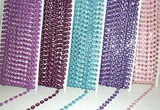Hermoso con Cuentas de Cristal Plástico Adorno Flor 9MM, Varios Colores,