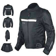 Blouson Oxford Nylon Homme Textile CE Protections Thermique Moto Scooter Noir
