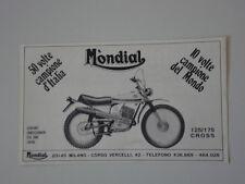advertising Pubblicità 1970 MOTO MONDIAL 125/175 CROSS