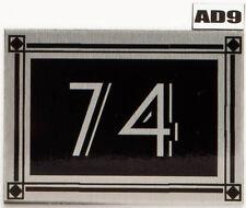 Personalised Deco Name Plate Door Number Art Deco House plaque