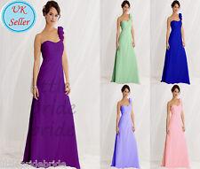 One shoulder Chiffon Evening Wedding Bridesmaid Prom Party Dress size 6-22 JS35