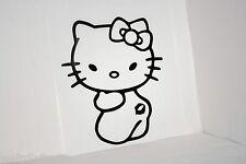 Hello Kitty Kiss My Butt Vinyl Car Bumper Laptop iPad Tablet Decal Sticker Lips
