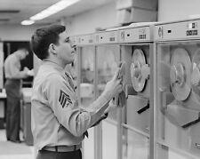 Early computer systems at Marine Barracks in Washington DC 1971 Photo Print