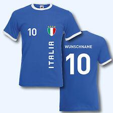 T-Shirt Trikot Retro-Shirt, WM Italien Italia, Wunschname + Ziffer, Ringer T