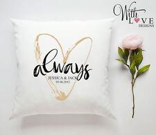 Cuscino personalizzata sempre giorno S. Valentino regalo anniversario di matrimonio