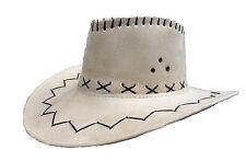 Chapeau cowboy imitation cuir beige