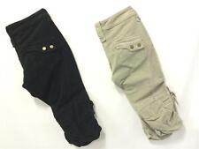 Pinocchietto Pantalone Capri Armani Jeans Donna velluto coste nero mastice E5P21