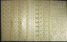 Sticker Zahlen in gold: 25/ 30/ 40/ 50/ 60/ 65/ 70/ 75/ 80 zur Auswahl Ziffern
