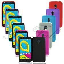 Para Alcatel U5 HD 5047Y Nuevo Genuino Negro Transparente Gel Silicona Teléfono Estuche Cubierta