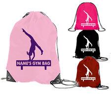 b5ce66f1fba0 GYMNAST gymnastics gym bag personalised club school sac drawstring sports  girls