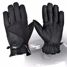 Hombre guantes de cuero Tacto Suave Cálido Para Invierno Senderismo