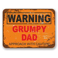 2 X 10 Cm malhumorado papá señal de advertencia pegatina de vinilo Laptop gracioso Regalo Niños # 6562