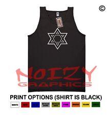 Star Of David #2 Christian TANK TOP Jesus Religious Black Shirt Chai Israel Flag