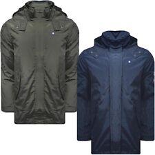 Lambretta Mens Lightweight Weatherproof Casual Hooded Zip Up Parka Coat Jacket