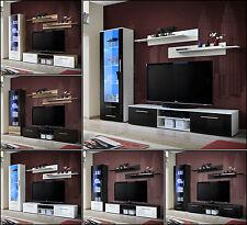 Mueble Modular de PARED SALÓN Estantería galino A Alto Brillo Iluminación LED