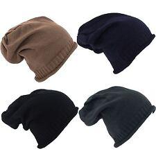 Rib knitted Unisex Baggy Beanie Hat