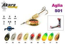 Leurre cueiller spinner Aglia AS AKARA pêche truite perche brochet saumon pike