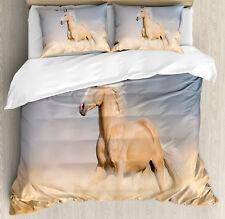 Horse Duvet Cover Set with Pillow Shams Palomino Sand Desert Print