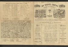 """PARIS (III°) MEUBLES en CHENE """"AU VIEUX CHENE / F. DIEUDONNE & G. DORENLOT"""" 1870"""