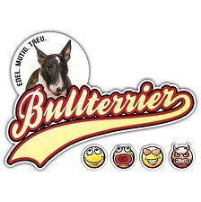 Auto Aufkleber BULLTERRIER 3 OLD SCHOOL SIVIWONDER Sticker EMOJI Bull Terrier