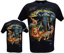 Lion Tigre éléphant Girafe Mignon Jungle Animaux T Shirt S - 3XL par Wild