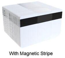 BLANK White Premier PVC Magnetic Stripe Cards CR80 - 760 Micron - Qty's 1 - 400