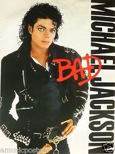 "MICHAEL JACKSON ""BAD"" ORIGINAL CANADA PROMO ALBUM POSTER FROM 1987 - King Of Pop"