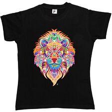 Indian style decorated lion avec crinière pour femme femmes t-shirt