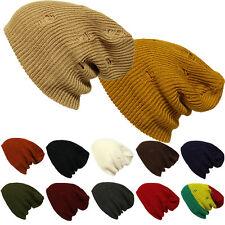 Men  Women Crochet Knit Oversize Baggy Beanie Slouch Unisex Vintage Ski Cap Hats