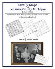 Family Maps Lenawee County Michigan Genealogy MI Plat