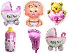 baptême Ballons Rose Its A fille thème Balons écharpe Minnie Mouse feuille balon