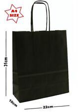 Noir A4 papier Fête Sac cadeau ~ boutique magasin présent SAC TRANSPORT ~ PIC