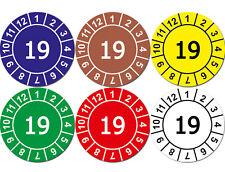 Aufkleber Prüfplaketten Jahresplaketten 19 GRÜN Wartung Prüfung MATT