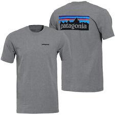 Patagonia   Mens P-6 Logo Responsibili-Tee T-shirt   Gravel Heather