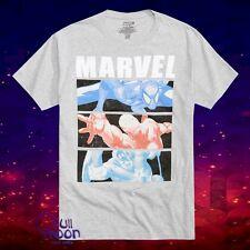New Marvel Comics X-Men Spider-Man Iron Man Captain America Mens Vintage T-Shirt