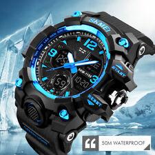 SKMEI Men Sport Watch Dual Display Analog Digital LED Electronic Wrist Watches