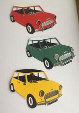 Mini Cooper Die Cut Shapes set of 3 (various colours)