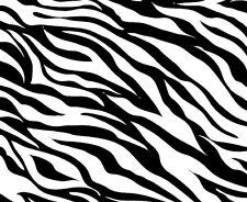 "Zebra Print Pattern Vinyl Adhesive Wrap Sheet Choose Colors (4 Pack) 4""x5"" Each"