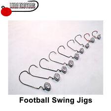 Football swing jig head 5pcs light worm hooks perch pike lrf jig zander pollack
